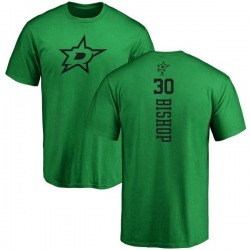 Youth Ben Bishop Dallas Stars One Color Backer T-Shirt - Kelly Green